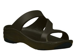 Women's Premium Z Sandal, Dark Brown / Black