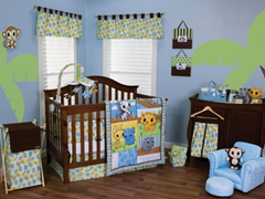 3pc Crib Bedding Set - Riley Tiger