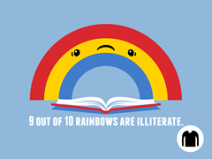 Illiterate Rainbow LS Tee