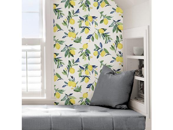Lemon Drop Yellow Peel & Stick Wallpaper