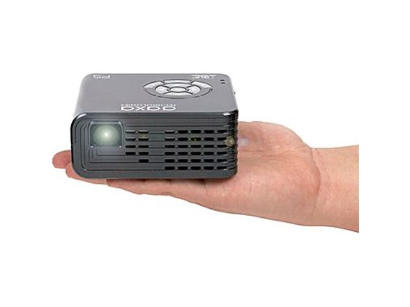 Aaxa p5 720p hd pico projector w 135m for Worlds smallest hd projector