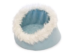 Feline Cat Comfort Cavern Pet Bed - Blue