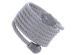 Stainless Steel Twisted Rope Bracelet