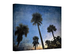 Palms at Sunset Wrapped Canvas (3 Sizes)