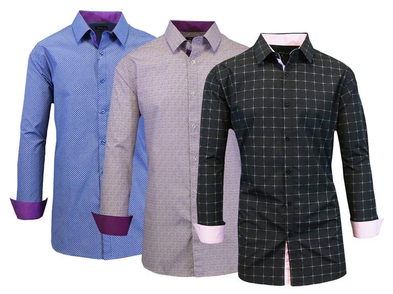 Galaxy by Harvic Men's Slim Fit Long Sleeve Shirt