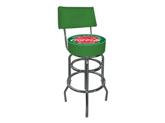 Pub Stool with Back Green Coca-Cola®