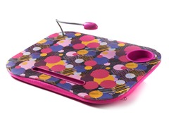 Laptop Cushion w/ Light - Fuchsia Dots
