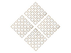 Checkered Mirrored Grid Wall Panel 4-pc
