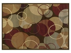 Emery Brown-Gold Geometeric Rug (Multiple Sizes)