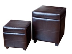 Avalon 2pc Square Storage Ottomans