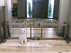2-in-1 Wood Free Standing Pet Gate