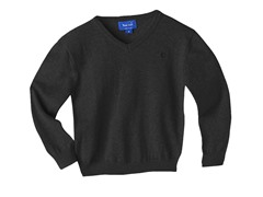 V-Neck Sweater - Black (5-7)
