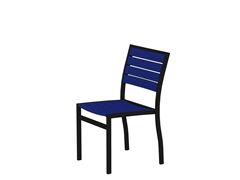 Euro Dining Chair, Black/Pacific Blue