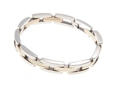 18K Gold Plated Stainless Steel Link Bracelet