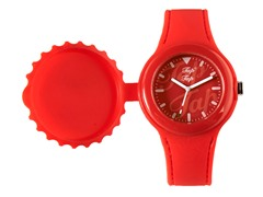 Light Red Silicone Watch