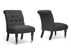 Baxton Studio Belden Slipper Chair Set of 2