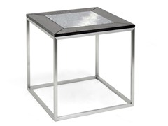 Jezeka  End Table w/Marble Inlay