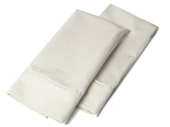1000 TC Pillowcases-Standard-Set of 2-Ivory