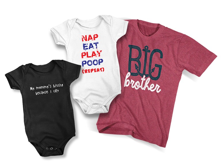 Baby Rompers and Kids' Tees