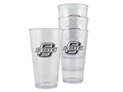 Oklahoma State Plastic Pint Glasses 4-Pk