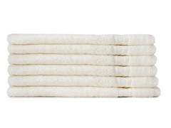 MicroCotton 6pc Hand Towel Set-Linen