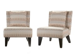 Pair Celia Chairs/Pillows - Clapton Jade