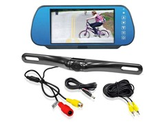 "7"" TFT/LCD Mirror Monitor with Rearview Backup Color Cam"