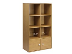 Kuib No Tools 8-Cube w/2 Doors Oak