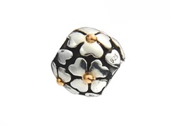 Sterling Silver Bead w/ 14K Accent Heart