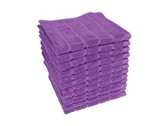 Mattoni Tiles 12 Pack Wash Cloths- Purple