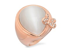 18 kt Rose Gold Plated Ring w/ Butterfly