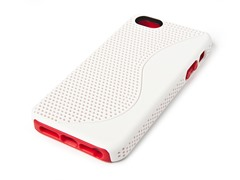 Yin-Yang Case for iPhone 5 - White/Red