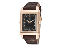 Men's Black/Ivory Dial / Brown Leather
