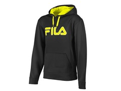 Fila Men's Relay Hoody, Black/Yellow (M)