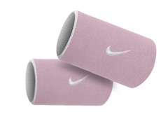 Premier Doublewide Wristbands - Pink/White