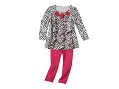 Tunic & Leggings Set - White Leopard (3T-6)
