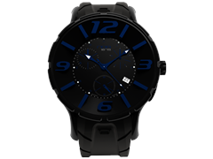 44mm Black and Blue Chrono