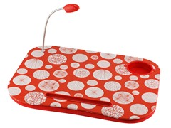 Laptop Cushion - Red & White Dots