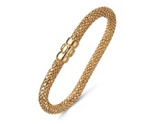 18k Plated Mesh Magnetic Bangle