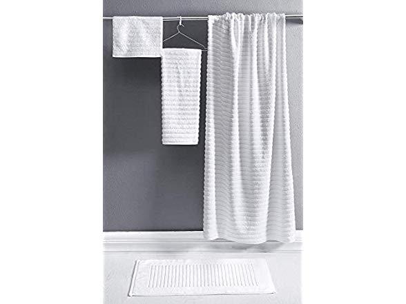 Luxury Bath Towel Collection 27X54 Combed Cotton Hotel 100/% Turkish Jacquard Rib