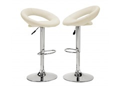 Homelegance Circle Stool White 2pk
