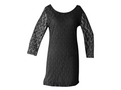 Star Vixen Lace Dress, Black