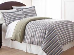 Micro Flannel® Comforter Set- Stripe-3 Sizes