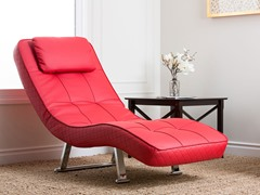 Morgan Red Euro Lounger Chair