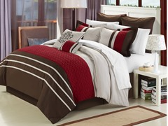 Koran 8Pc Set-Burgundy-2 Sizes