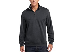 Arrow Men's Partial-Zip Sueded Pullover, Charcoal