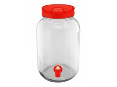 1 Gallon Red Colored Lid Beverage Dispenser