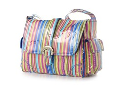 Kalencom Laminated Buckle Bag - Cobalt Stripes
