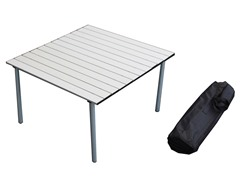 Low Aluminum Table, Silver