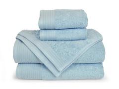 6-Piece Supima Cotton Towel Set-Winter Sky